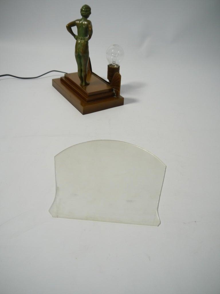 Art Deco Female Figure Table Lamp, 1930s For Sale 2