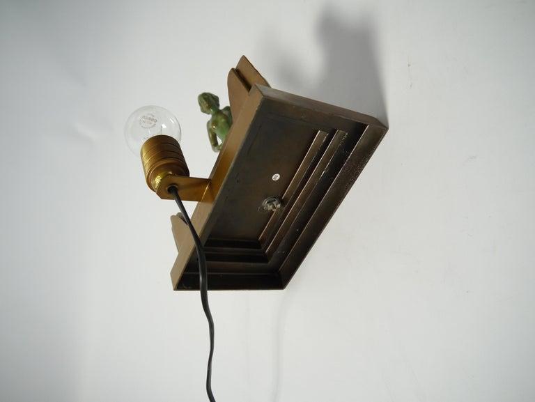 Art Deco Female Figure Table Lamp, 1930s For Sale 3