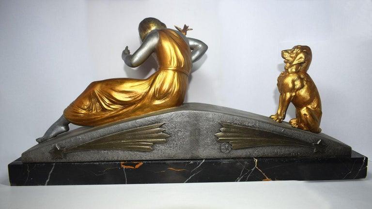 Art Deco Figural Group by Van De Voorde For Sale 4