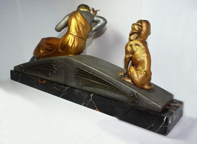 Art Deco Figural Group by Van De Voorde For Sale 5