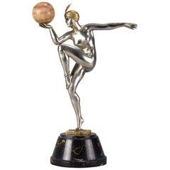 "Art Deco Figure ""Stella"" by Guiraud-Rivière"