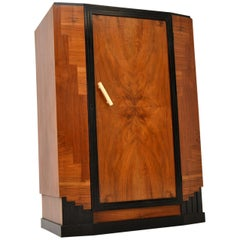 Art Deco Figured Walnut Compactum Wardrobe