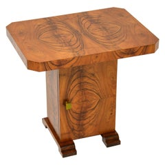 Art Deco Figured Walnut Occasional Coffee / Side Table