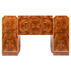 Art Deco Figured Walnut Sideboard by Warring and Gillows
