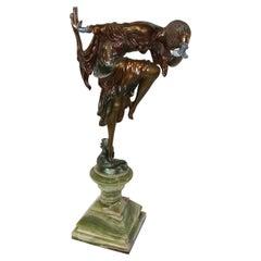 Art Deco Figurine Bronze Ankora Dancer