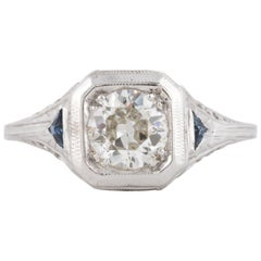 Art Deco Filigree White Gold Diamond Ring