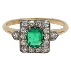 .60 Carat Colombian Emerald .50 Carat Diamond Ring