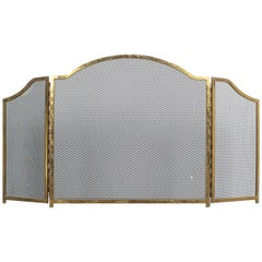 Art Deco Fire Screen from Brass