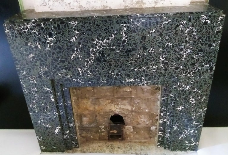 Art Deco Fireplace in Striking Marble For Sale 1