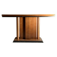 Art Deco Flip Top Console Dining Table attributed to Donald Deskey