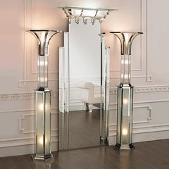Art Deco Floor Lamp With Gold Finish
