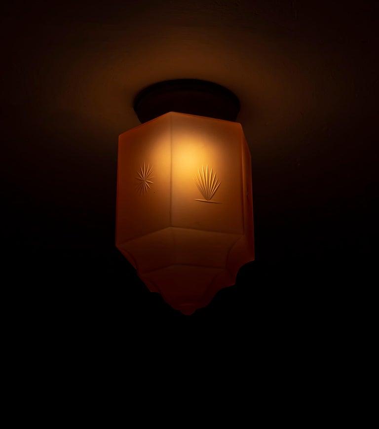 Art Deco Flush Mount Light, 1930s For Sale 4