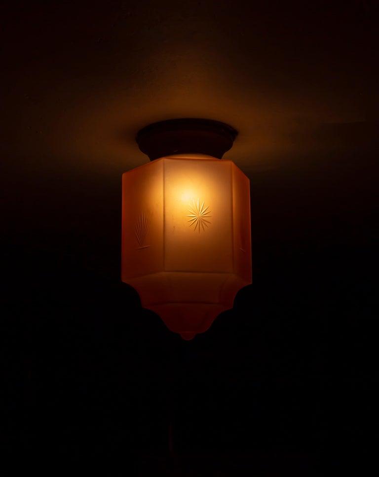 Art Deco Flush Mount Light, 1930s For Sale 5