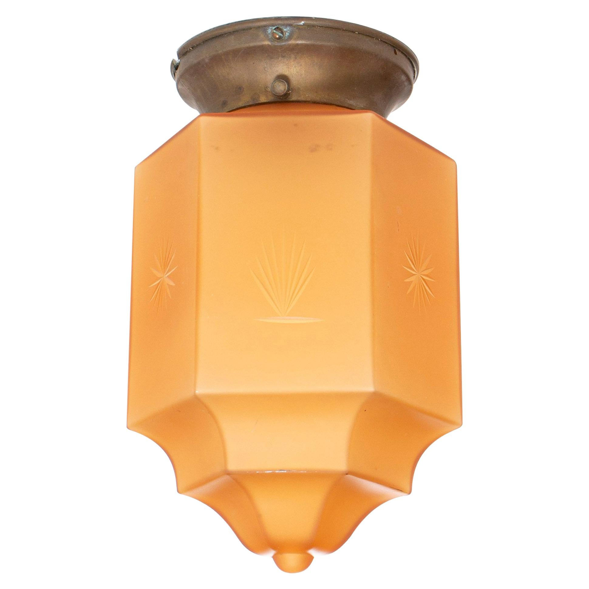 Art Deco Flush Mount Light, 1930s