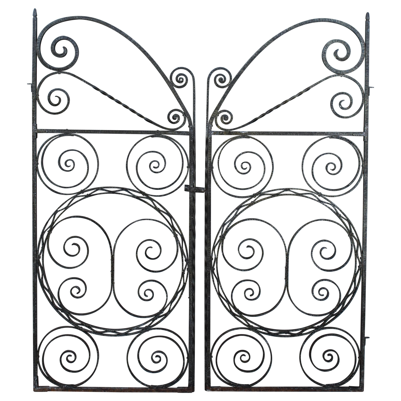 Art Deco Forged Iron Gates