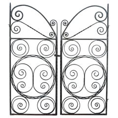 Art Deco Forged Iron Gates
