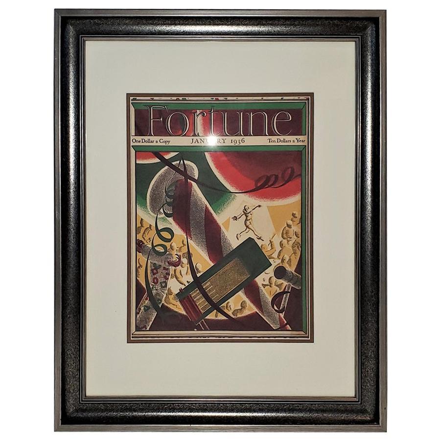 Art Deco Fortune Magazine Cover January 1936