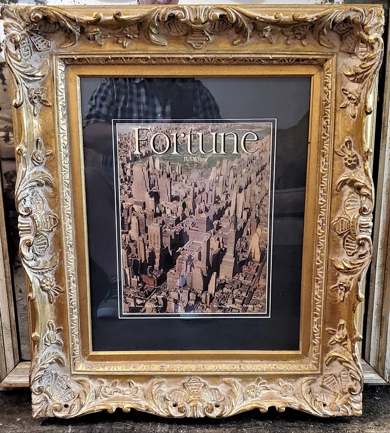 Engraved Art Deco Fortune Magazine Cover July 1939, Manhattan Skyline For Sale
