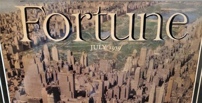20th Century Art Deco Fortune Magazine Cover July 1939, Manhattan Skyline For Sale