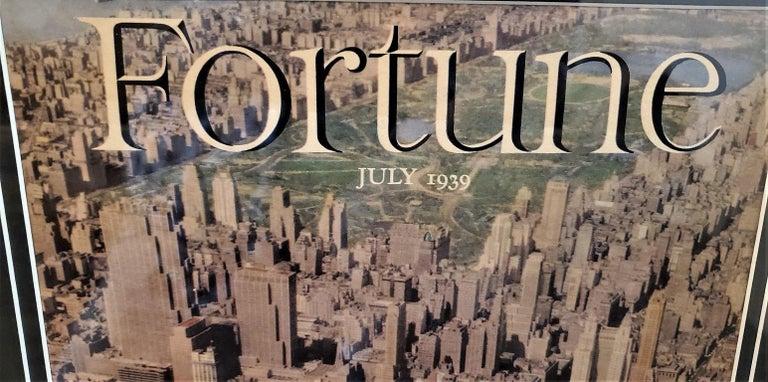 Paper Art Deco Fortune Magazine Cover July 1939, Manhattan Skyline For Sale