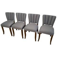 Art Deco Four Chairs J. Halabala from 1930