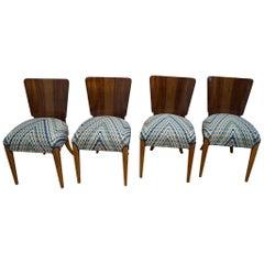 Art Deco Four Chairs J.Halabala from 1940