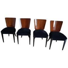 Art Deco Four Chairs J.Halabala from 1950