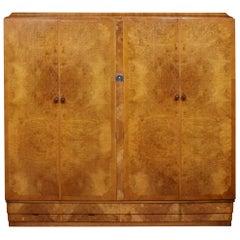 Art Deco Four Door Wardrobe