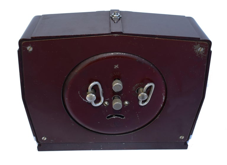 20th Century Art Deco French 1930's Bakelite Clock by Blangy For Sale