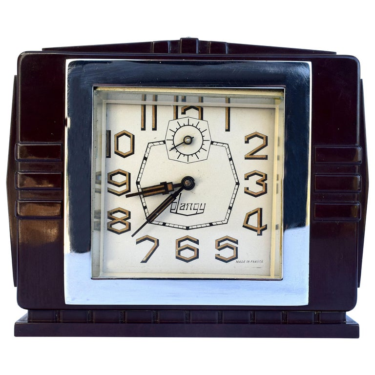 Art Deco French 1930's Bakelite Clock by Blangy For Sale