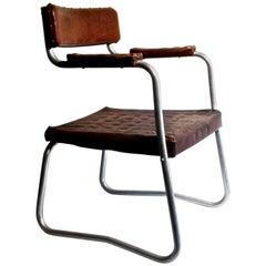 Art Deco French Aluminium Armchair