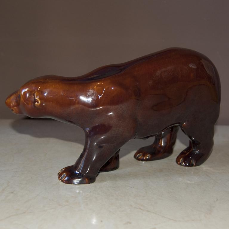 Mid-20th Century Art Deco French Brown Bear, 1930s For Sale