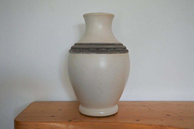 Art Deco French Ceramic Vase by Pol Chambost In Good Condition For Sale In La Teste De Buch, FR