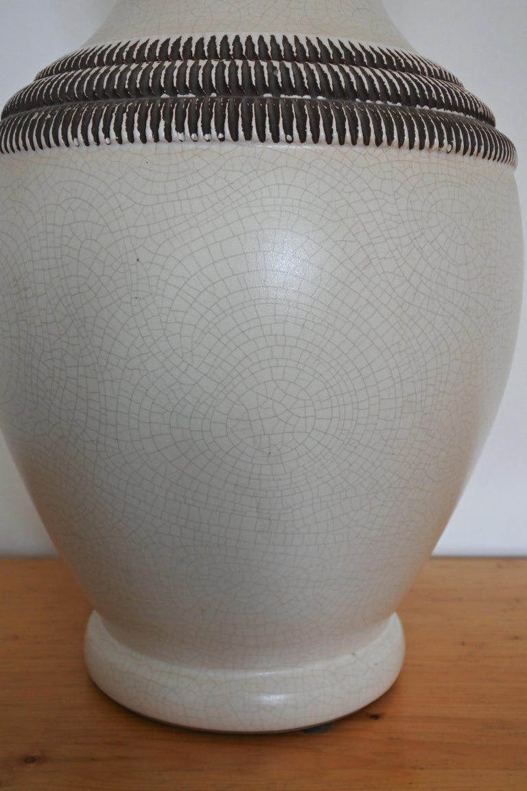Mid-20th Century Art Deco French Ceramic Vase by Pol Chambost For Sale