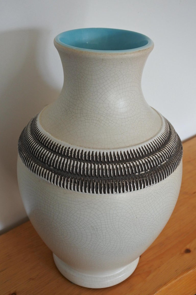 Art Deco French Ceramic Vase by Pol Chambost For Sale 1