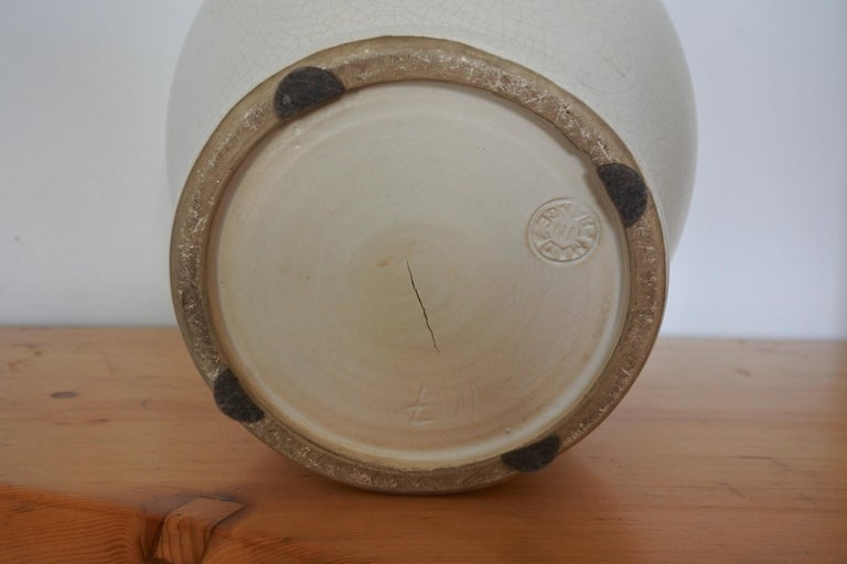 Art Deco French Ceramic Vase by Pol Chambost For Sale 4