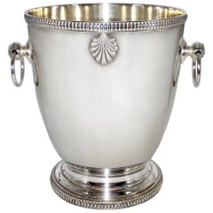 Art Deco French Champagne Bucket, Wine Cooler Silver Plated
