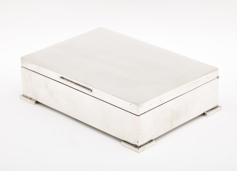 Art Deco French Continental Silver '.800' Footed Table Box For Sale 5