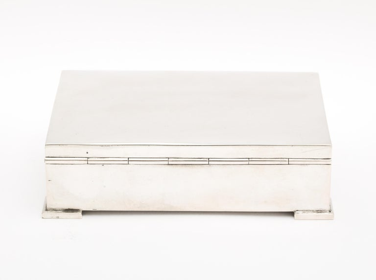 Art Deco French Continental Silver '.800' Footed Table Box For Sale 2