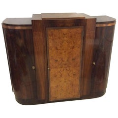 Art Deco French Curved Doors Precious Wood Sideboard