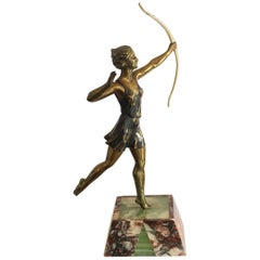 Art Deco French Diana the Huntress Figurine by Molins Balleste
