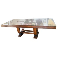 Art Deco French Dining Table by Gaston Poisson
