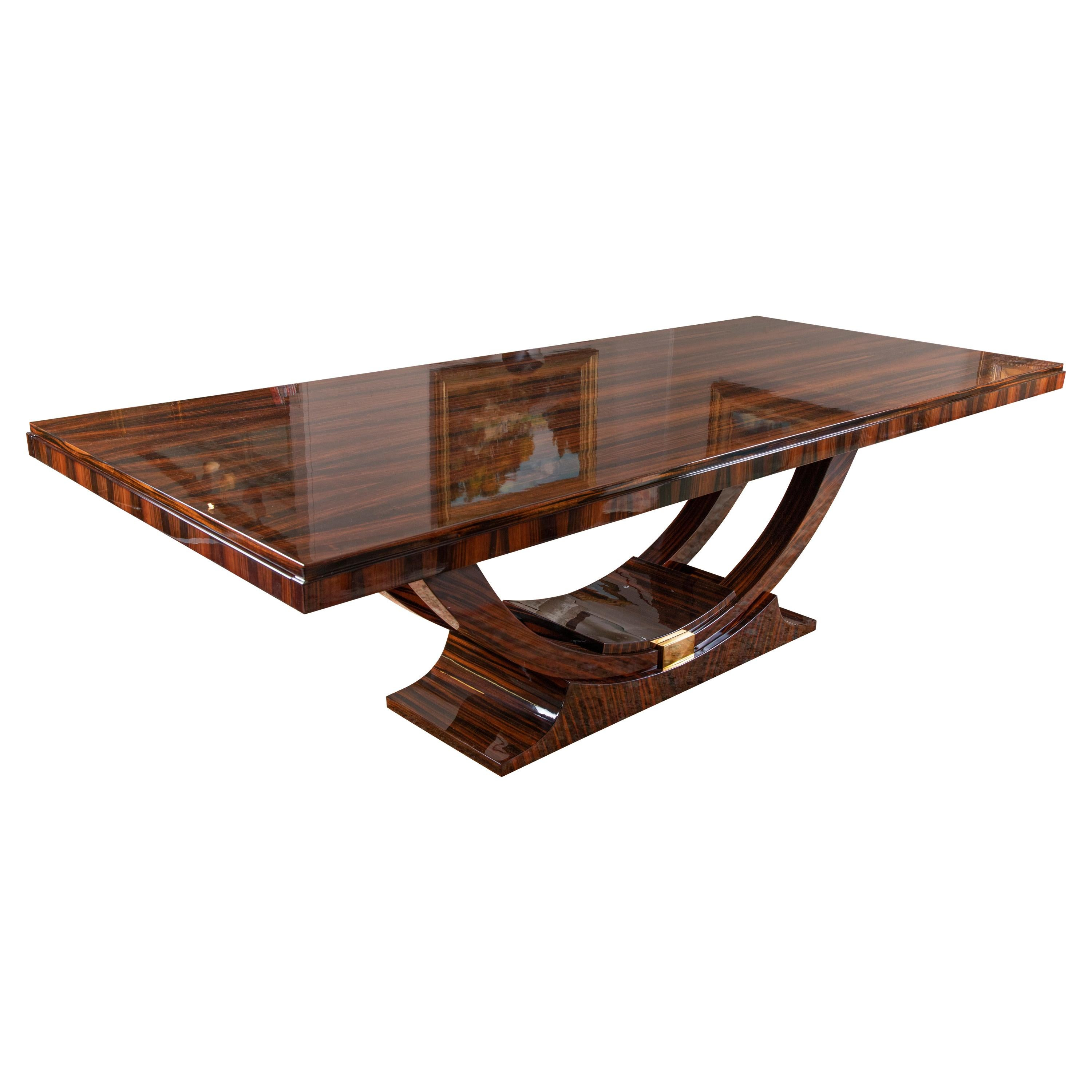 Art Deco French Dinning Table in Macassar Wood