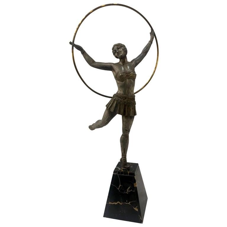 Art Deco French Figural Dancer, circa 1930 For Sale