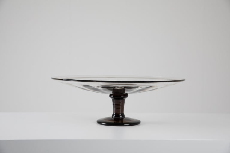 Art Deco French Glass Coupe in Frosted Glass by Charles Schneider, 1930s For Sale 1