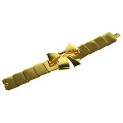 Art Deco French Gold Bow Knot Bracelet