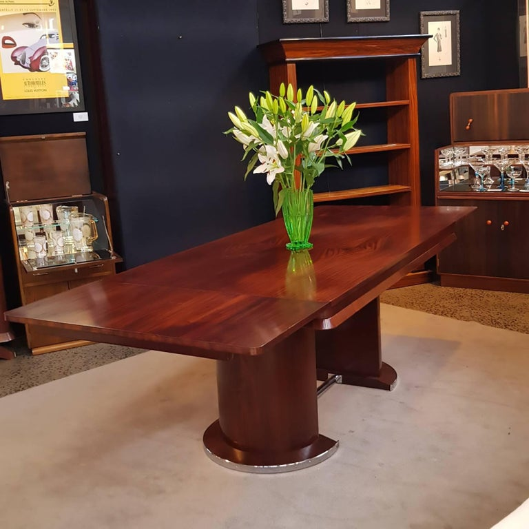 Long Dining Tables For Sale: Art Deco French Long Extension Dining Table At 1stdibs
