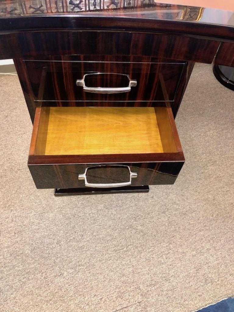 Art Deco French Macassar Desk For Sale 1