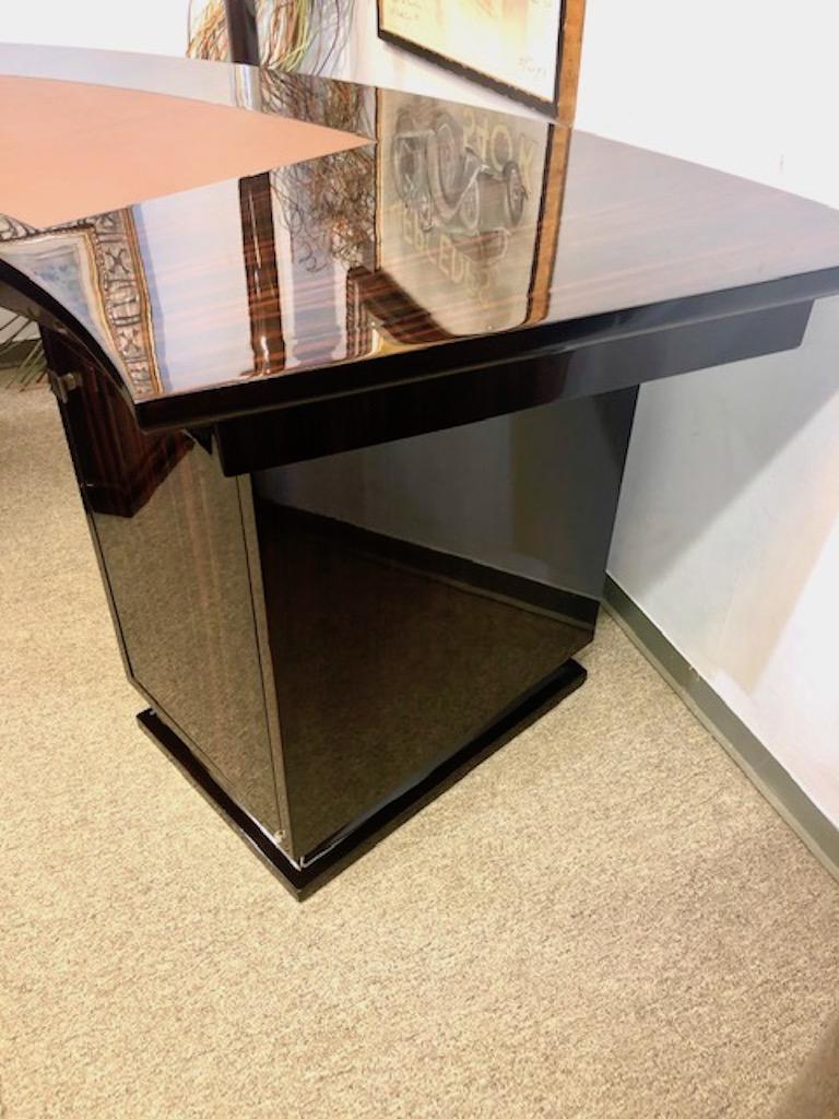 Art Deco French Macassar Desk For Sale 3