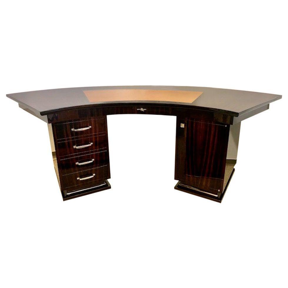 Art Deco French Macassar Desk